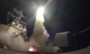 The guided-missile destroyer USS Porter (DDG 78) launches a tomahawk land attack missile Friday.