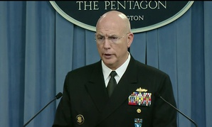 Adm. Kurt W. Tidd, who leads U.S. Southern Commmand, briefs reporters at the Pentagon.