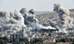 Coalition strikes hit Kobane, Syria in 2014.