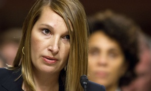 Heather Higginbottom, then deputy secretary of management and resources at the State Department, testifies on Capitol Hill in 2014.