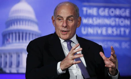 DHS Secretary John Kelly speaks at The George Washington University.