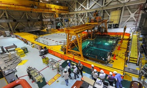 Highly radioactive used nuclear fuel stored underwater at Unit 2, Brunswick Nuclear Power Plant, Southport, North Carolina.