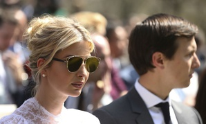 Ivanka Trump and Jared Kushner attend a news conference with President Trump and Jordan's King Abdullah II  on April 5.