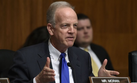 "Sen. Jerry Moran, R-Kan., tweeted a photo of a meeting he held with the VA chief, saying, ""Partisan games won't impede our efforts to improve our care for our nation's veterans."""