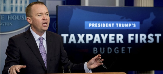 """OMB Director Mick Mulvaney said the proposals are """"common sense reforms to try to bring the federal government benefit programs closer to the private sector."""""""