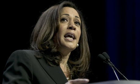 """Sen. Kamala Harris, D-Calif., is one of the lawmakers requesting documents and an explanation of the decision to drop the """"Sexual Orientation and Gender Identity"""" category."""