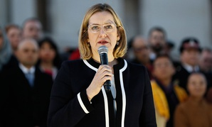 Amber Rudd speaks in London in March.