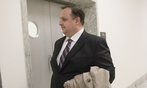 Ethics office director Walter Shaub walks on Capitol Hill in January.
