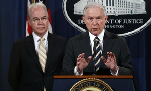 HHS chief Tom Price (left) and Attorney General Jeff Sessions announced the bust Thursday.