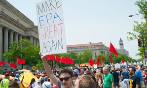 Protesters at the People's Climate March on April 29 in Washington.