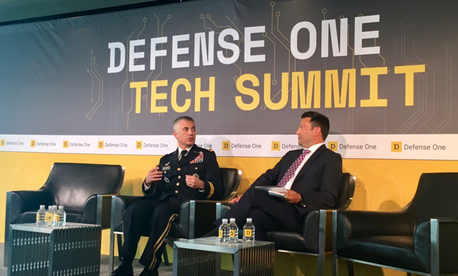 Army Lt. Gen. Paul Nakasone talks at the 2nd Annual Defense One Tech Summit on July 13, 2017, in Washington, D.C.
