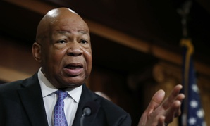 Rep. Elijah Cummings, D-Md., ranking member on the House Oversight Committee, speaks during a news conference in April.