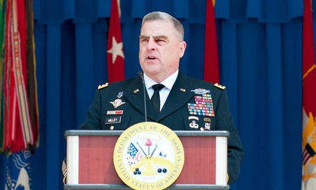 Army Chief of Staff Gen. Mark A. Milley speaking in 2017.