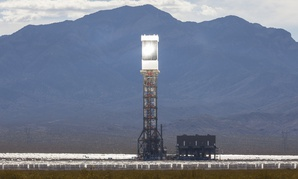 The Ivanpah solar thermal power plant in California's Mojave Desert.