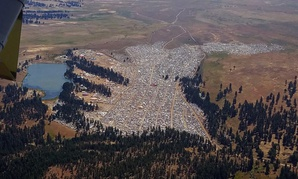 The crowd at the Big Summit Eclipse 2017 event near Prineville, Oregon.