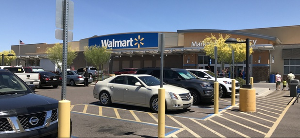 A Walmart Super Center store in Cave Creek, Arizona. The Grand Canyon State is among the handful of states that has enacted laws to protect bystanders from being sued for breaking a car window to rescue a child in an emergency.