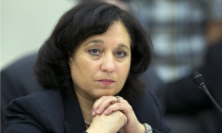 DEA Administrator Michelle Leonhart, shown testifying on Capitol Hill in 2013, failed to stop a subordinate from intervening to reinstate an agent's clearance.