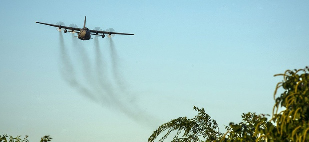 Air Force C-130s will be spraying 6 million acres in Texas for mosquitoes.