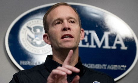 FEMA Administrator Brock Long gives an update on hurricane relief efforts. Long will be without a confirmed deputy a while longer now that the administration's nominee withdrew.