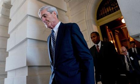 Special Counsel Robert Mueller departs after a closed-door meeting in Washington in June 2017.