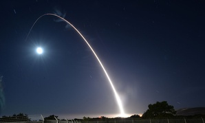 An unarmed U.S. Air Force Minuteman III intercontinental ballistic missile launches during an operational test May 3, 2017, at Vandenberg Air Force Base in California.