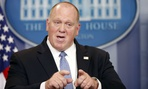 Acting ICE director Thomas Homan holds a press conference over the summer. The agency's mission is controversial enough that its executives need protection, officials have argued.