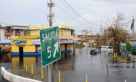 Carolina, Puerto Rico was flooded in the aftermath of Hurricane Maria.