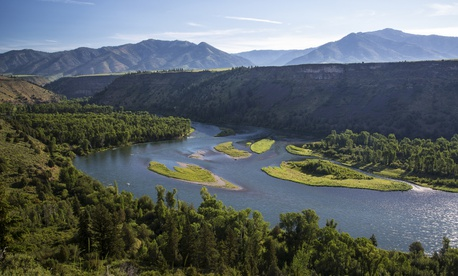Public lands along the south fork of the Snake River in southeastern Idaho.