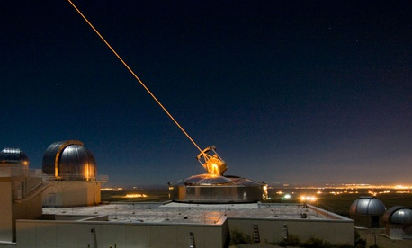 The Sodium Guidestar at the Air Force Research Laboratory's Starfire Optical Range sits on a 6,240 foot hilltop at Kirtland Air Force Base, N.M.