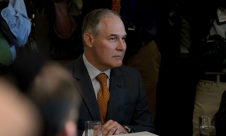 Environmental Protection Agency Administrator Scott Pruitt attends a Cabinet meeting on June 12.