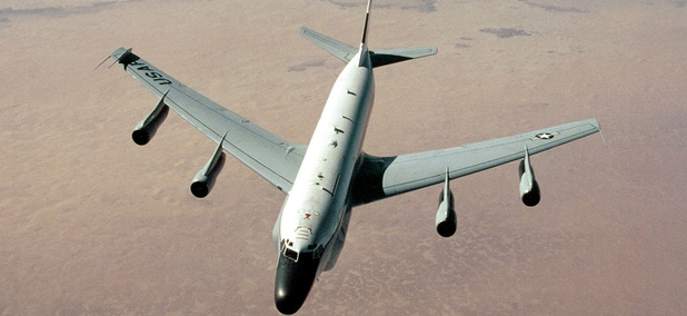 A U.S. Air Force RC-135, which is made by L3 Technologies.