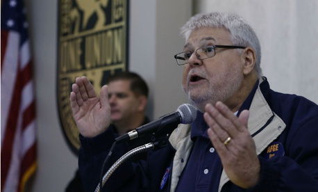 AFGE National President J. David Cox speaks to union members in 2012.