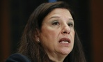 Acting Homeland Security Secretary Elaine Duke testifies on Capitol Hill. DHS is one of the agencies that improved its scores.