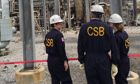 CSB officials tour a site in 2016.