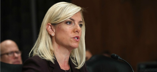 Kirstjen Nielsen testifies during a Senate Homeland Security and Governmental Affairs committee hearing on her nomination to be Department of Homeland Security Secretary on Nov. 8.