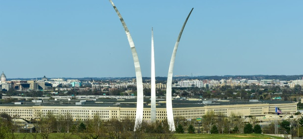 The Pentagon, as seen behind the Air Force Memorial.