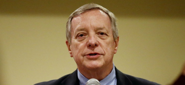 """Sen. Dick Durbin, D-Ill., was one lawmaker who promised  """"repercussions in Congress"""" if the Trump administration attempts to bury the report on initial travel ban implementation."""