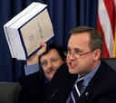 Nussle, shown here during a February 2005 hearing, is the former chairman of the House Budget Committee.