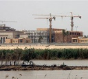 The 24-building compound, as seen from the banks of the Tigris,  will be the largest embassy in the world.