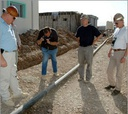 American contractors inspect an Army Corps of Engineers project in Sulaymaniyah, Iraq.