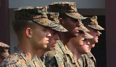 Participation by military members remained steady at 39.3 percent.