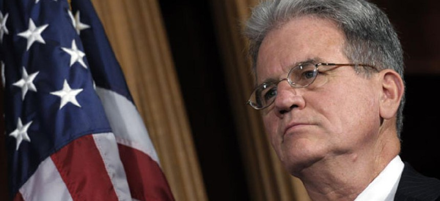 Sen. Tom Coburn, R-Okla., is shepherding the forced retirement language and several other provisions.