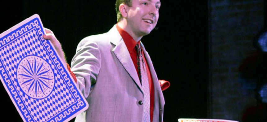 Professional magician Joe M. Turner.