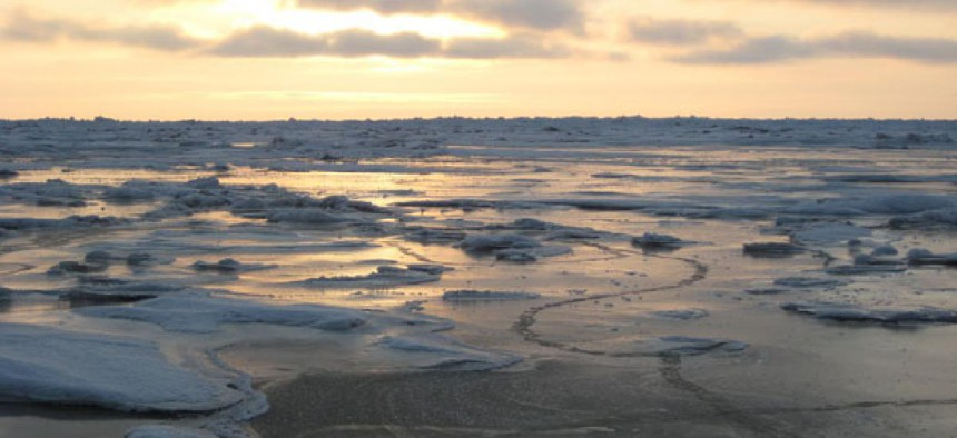 Harsh conditions in the Chukchi Sea make winter drilling difficult.
