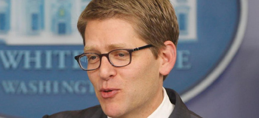 """""""Math tells us that you can't get the kind of balanced approach that you need without having rates be part of the equation,"""" White House press secretary Jay Carney said Monday."""