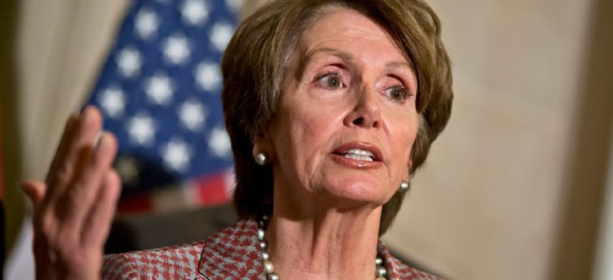 """""""Tax cuts for the rich, which do not create jobs, just increase the deficit, heaping mountains of debt onto future generations,"""" Rep. Nancy Pelosi, D-Calif., said Friday."""