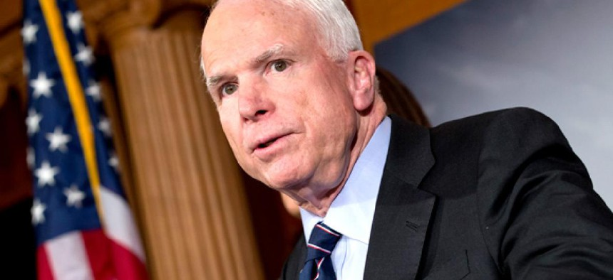 Sen. John McCain, R-Ariz., is pushing the cuts.