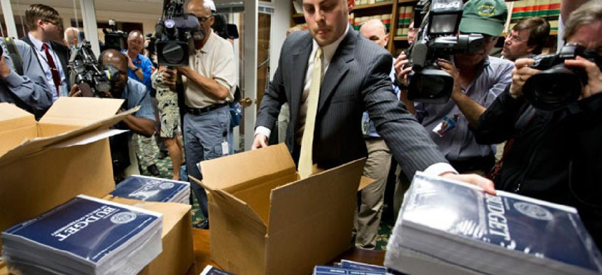 Copies of the budget were distributed to Senate staff Wednesday morning.