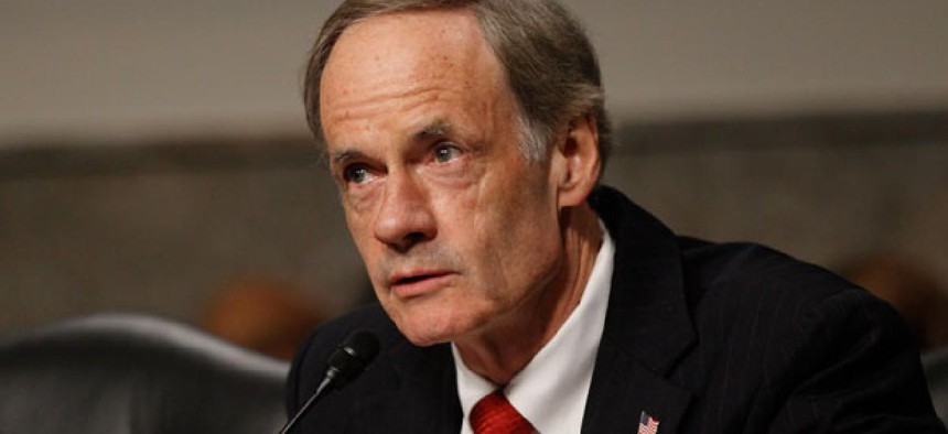 """""""Federal agencies made an estimated $108 billion in improper payments for fiscal year 2012, a small reduction from previous years,"""" noted Sen. Tom Carper, D-Del."""