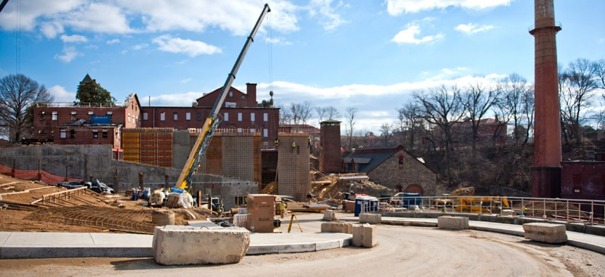 Construction on the Saint Elizabeth's site has been ongoing.